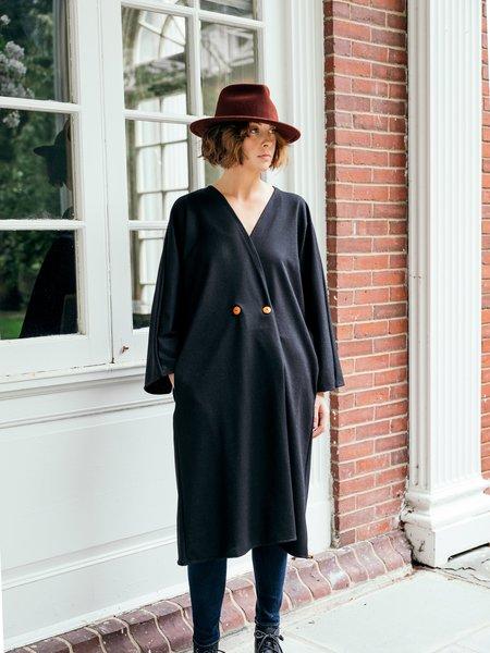Atelier Delphine Saskia Overlay Coat - Black