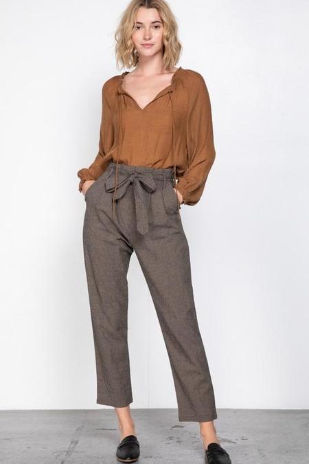 Grade & Gather SilverSun Gingham Trousers - Black