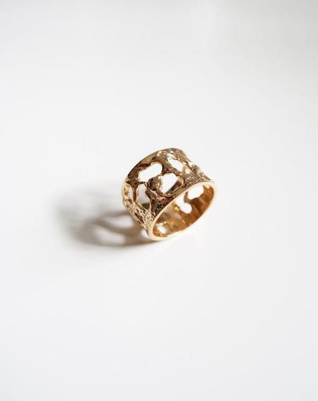 Invidiosa Jewelry Honeycomb Ring - Gold