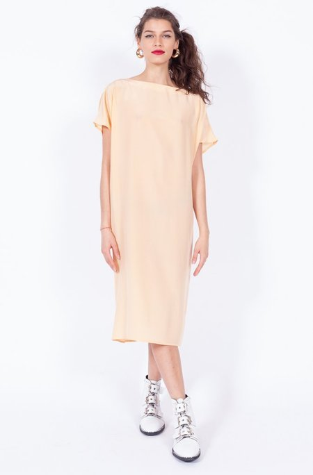 Yo Vintage! Silk Dress - Blush