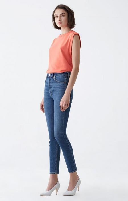 Agolde Nico Subdued Jeans - Blue Indigo