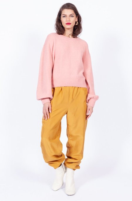 Yo Vintage! Silk Pants - Yellow