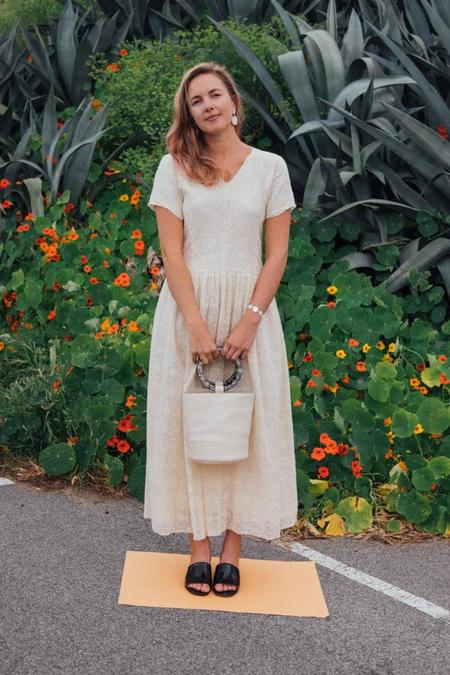 Caron Callahan Pico Dress - Ivory Lace