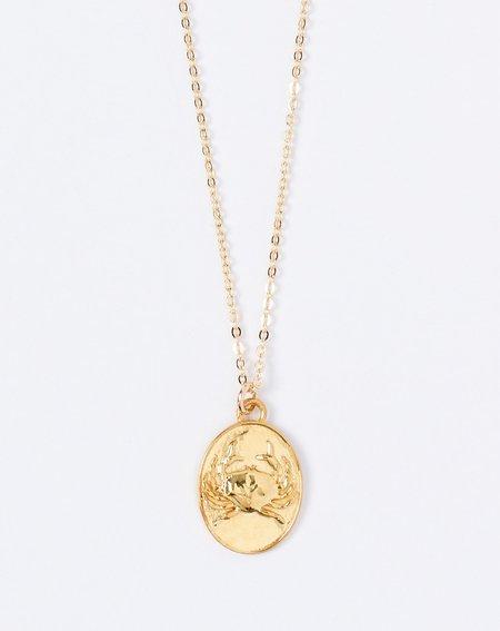 Talon Cancer Zodiac Necklace
