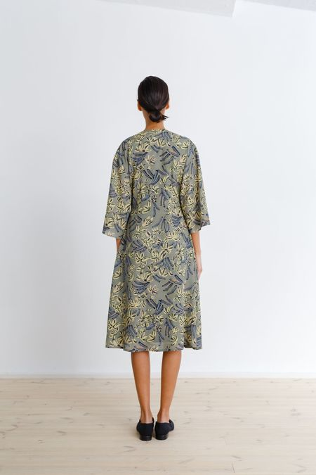 Samuji Felicity Dress - Green/Yellow/Light Blue