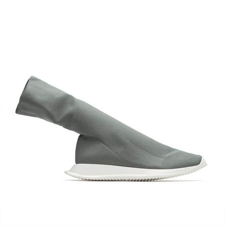 RICK OWENS DRKSHDW Runner stretch sock low sneaker - GREY