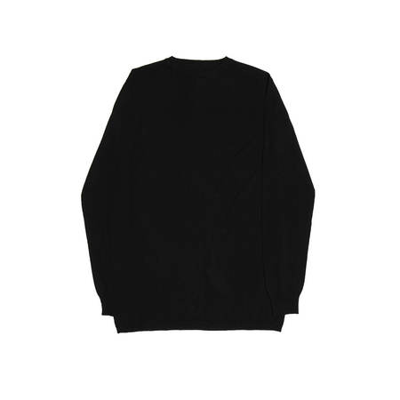 RICK OWENS Oversized Round Neck Sweater - Black