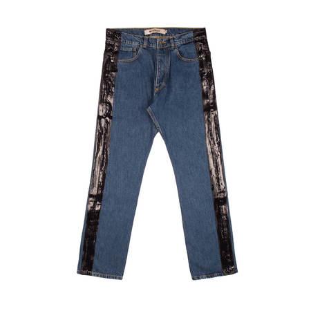 MISBHV Wet Print Denim Trousers - Blue