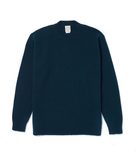 Country of Origin Crew Neck Sweater - Tartan Green