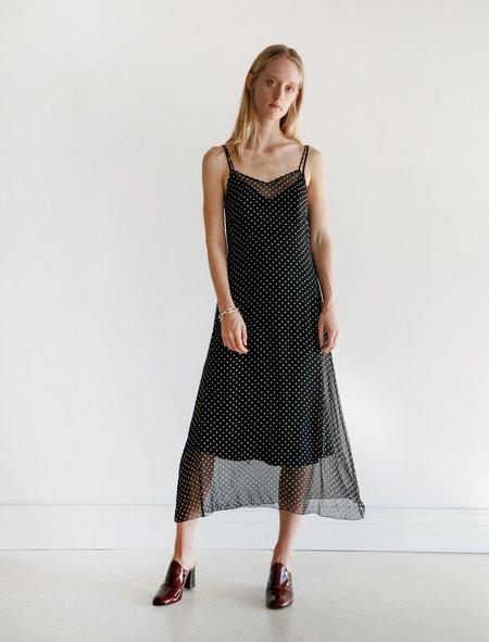 Organic by John Patrick Chiffon Dot Slip Dress