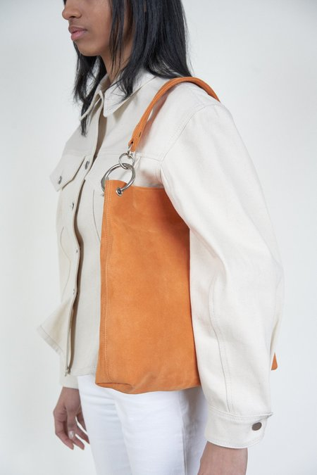Clyde World Suede Bag - Persimmon
