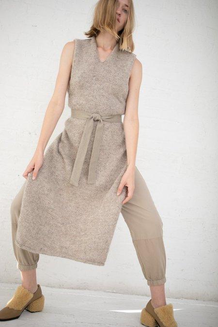 Cosmic Wonder Knit Apron Dress - Beige