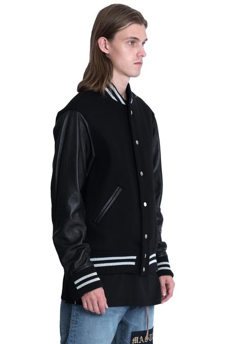 Mastermind World Cashmere Varsity Jacket - Black