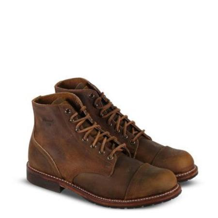 1892 by Thorogood Predator Leather Dodgeville Cap-Toe Boot - Wheat