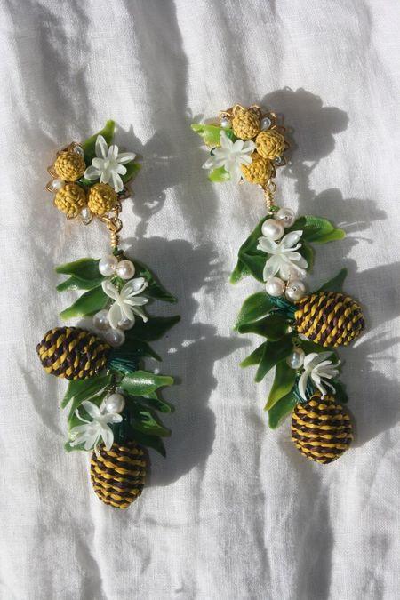 MERCEDES SALAZAR Pineapple Earrings - Yellow