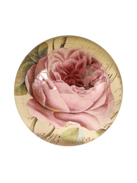 John Derian Cabbage Rose Paperweight
