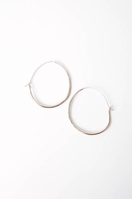 Marisa Mason Medium Natural Hoop - Brass