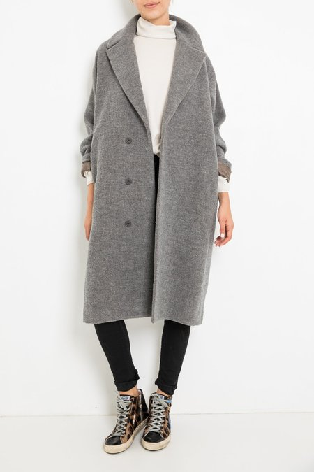 pas de calais WOOL COAT - GREY