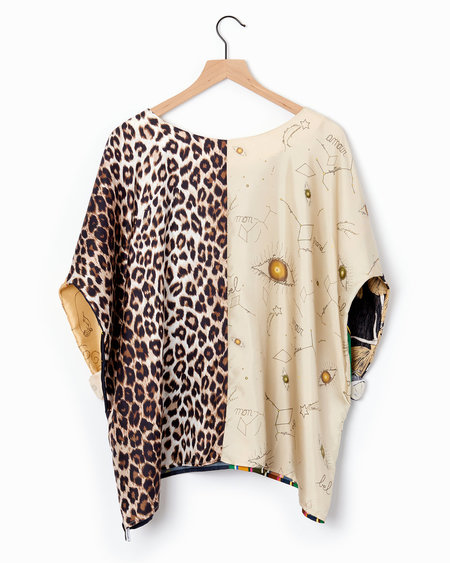 La Prestic Ouiston Nathalie Blouse - Multi/Leopard