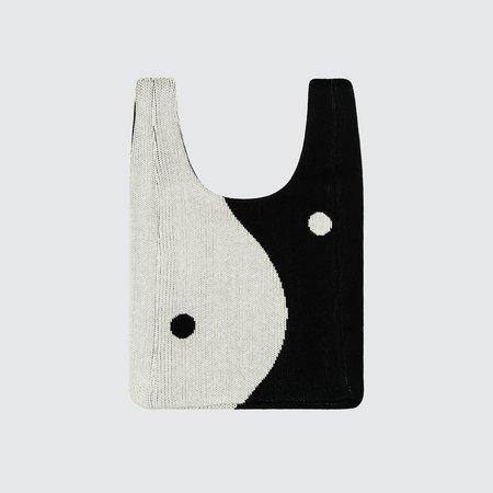 Hansel from Basel Yin Yang Shopper Bag - Black/White