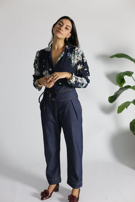 Lacausa Oliver Blouse - Midnight Floral