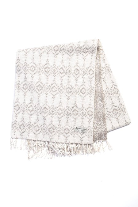 Bridge & Burn Alpaca Wool Fairisle Scarf - Natural