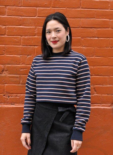 Odeyalo Maggie Sweater - Cream/Navy Stripes