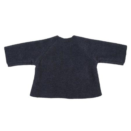 KIDS Makié Fleece Kimono Jacket - Heather Navy Blue