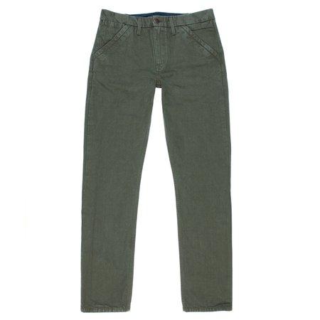 Freenote Cloth 14 oz. Slim Straight Workers Chino - Army Green