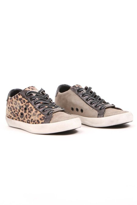 Leather Crown Donna Mix Suede - Leopard/Tan