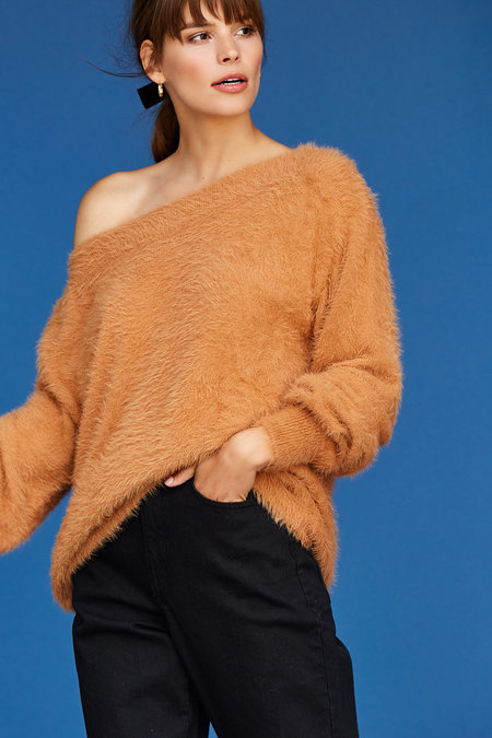 Callahan Finn Off The Shoulder Top - Meerkat