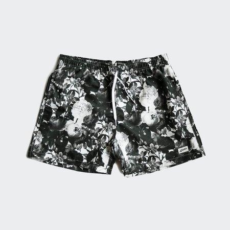 Bather Swim Shorts - Black Roses