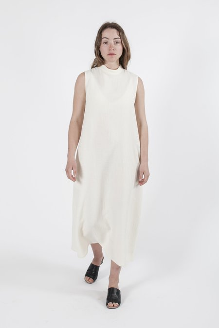 Good Studios Hemp Silk Sleeveless High Neck Dress