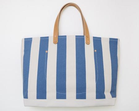 Apron & Bag Tote - Blue Stripe