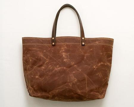 Stanley & Sons Waxed Canvas Tote - Brush Brown