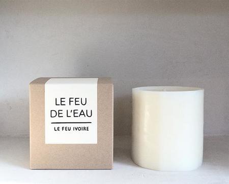 Le Feu De L'Eau Candle - Ivorie