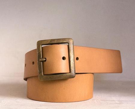 Stanley & Sons Leather Belt - NATURAL