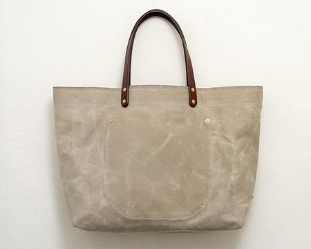 Stanley & Sons Waxed Canvas Tote - SAGE