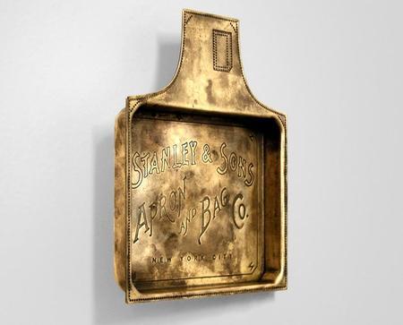 Apron & Bag Souvenir Tray - Brass