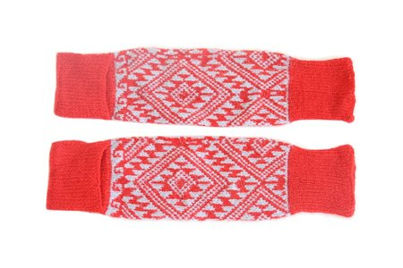 KIDS Cabbages & Kings Leg Warmers - Aztec Red/Grey