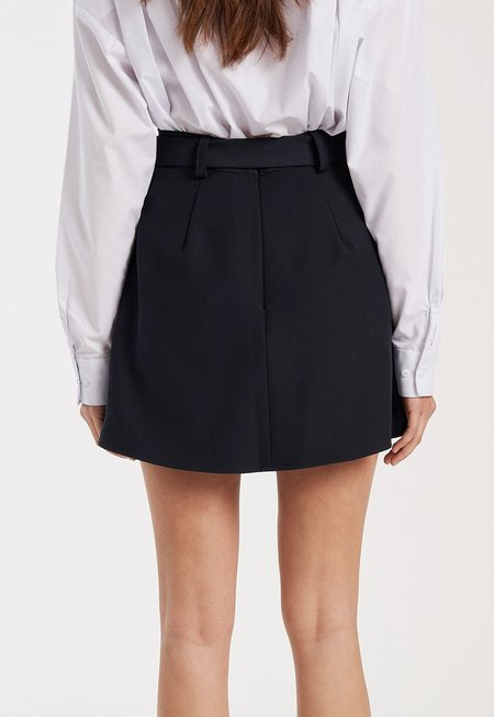Fifth Label Curveball Belted Skirt - Navy