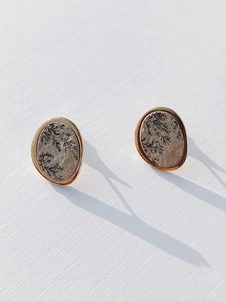 CONTEMPO.H Dendrite Pebble Earrings