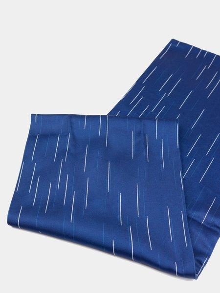 "Blue Blue Japan Woven Splashed Pattern ""Bassen"" Stole - Indigo"