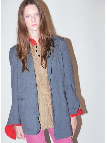 Bouton Belted Mens Blazer - Gray Check