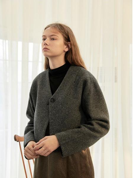 WNDERKAMMER One Button Short Jacket - Dark Grey