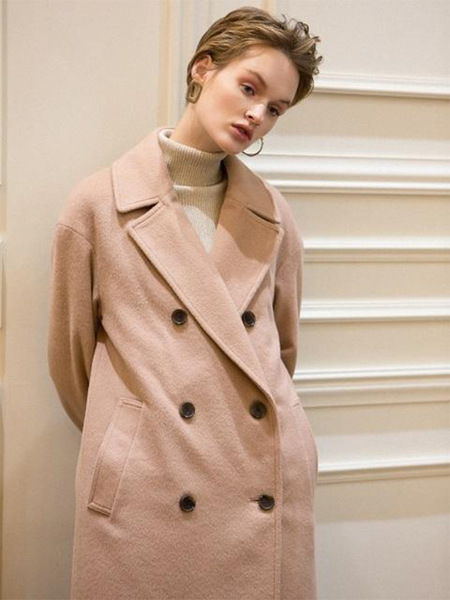 HACKESCH H Button Double Coat - Indi Pink