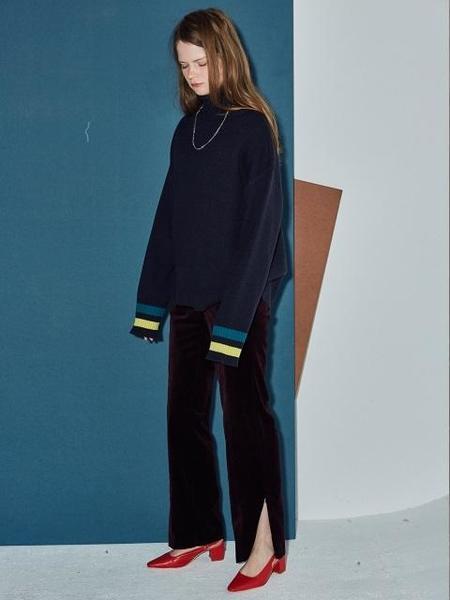 Agender Velvet Pants - Blue