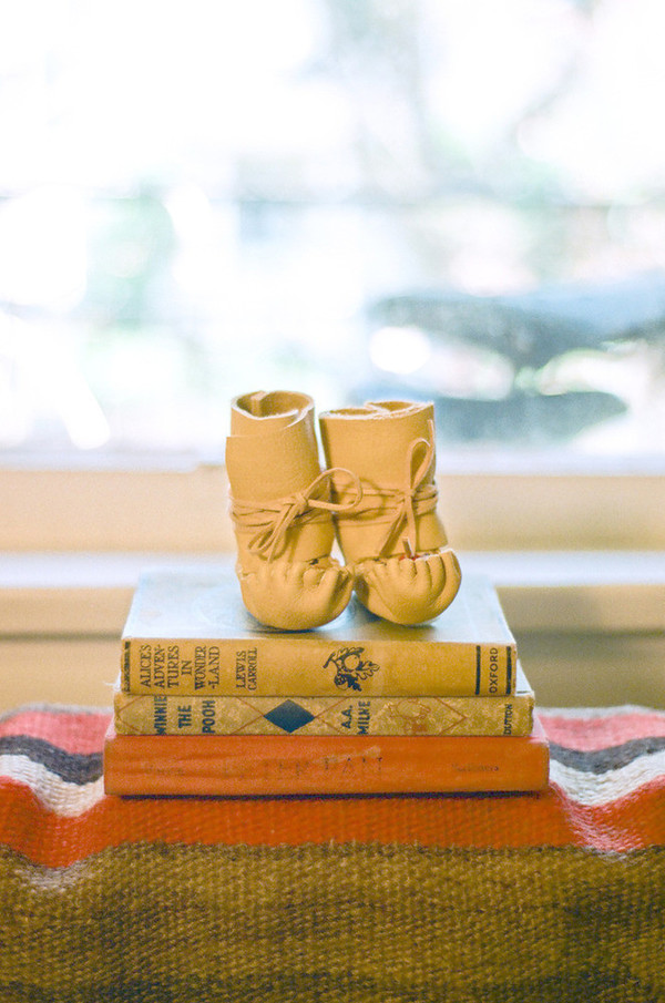 Baby Becky Brisco Elk Leather Moccasins