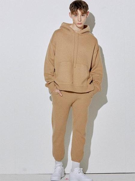 Unisex HALEINE Hood Cashwool Knit - Beige