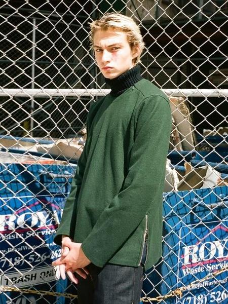 UNISEX GENERAL IDEA STANDARD Wool Knit Sweater - Green
